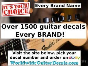 Guitar-Decal-Headstock-Decal-Restoration-Waterslide-281-Pick-any-one