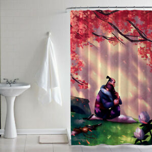 Details About Famous New Disney Princess Mulan Hug Custom Print Shower Curtain Size 60 X 72