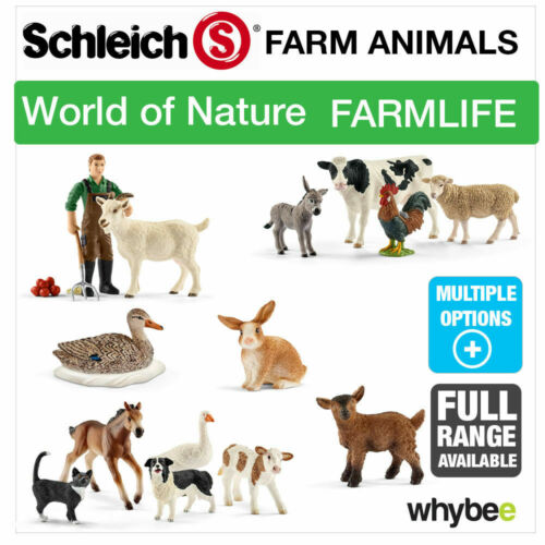 SCHLEICH NEW NATURE FARM LIFE FARM ANIMALS ANIMAL TOYS CATTLE AND COWS