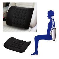 Car Lumbar Seat Back Massage Auto Cushion Home Chair Waist Support Pad Back Mat