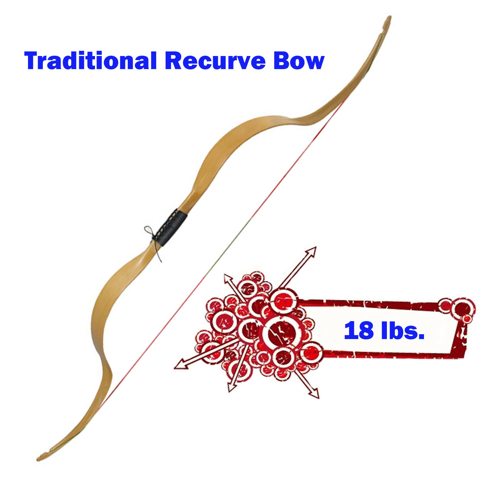 18lb Traditional Recurve Bow NIKA Archery Meng Yuan Crab Bows Shooting Practise