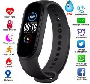Smartwatch Bluetooth Armbanduhr Schrittzähler mit Pulsuhr Fitness Tracker Neu