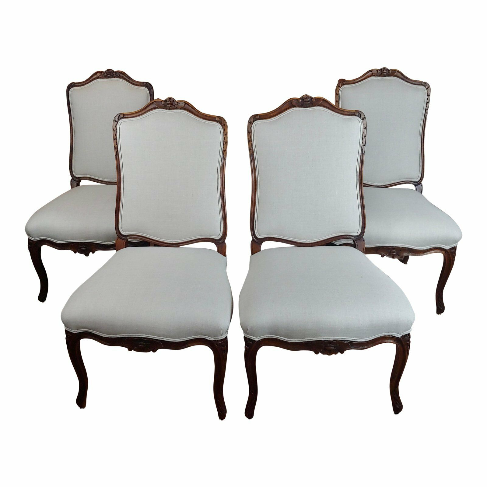 Picture of: French Provincial Country Style Oversized Dining Chairs Set Of 4 Ebay