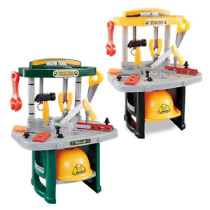 Toy Tool Workbench Set Construction Work Bench Carpenter Builder Kids Play Toys Ebay