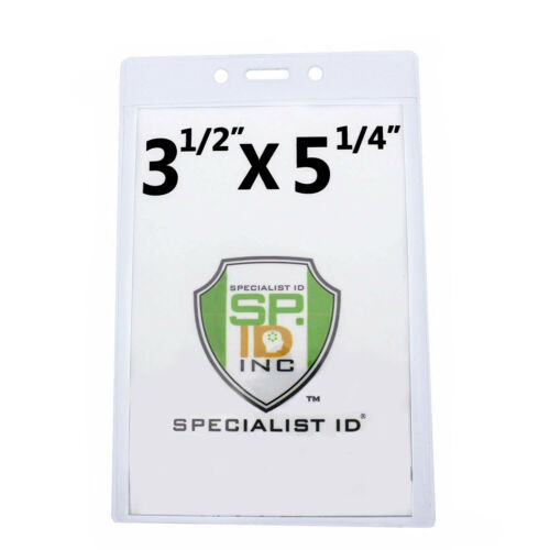 "3 1//2/"" X 5 1//4/"" Vertrical Large Event Badge Holders by Specialist ID 10 Pack"