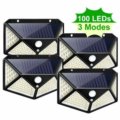100 LED Solarlampe Superhelle Solarleuchte Garten Bewegungsmelder für Außen