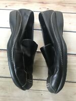 Naturalizer Women's Size 10W Black Leather Slip On Loafers Shoes