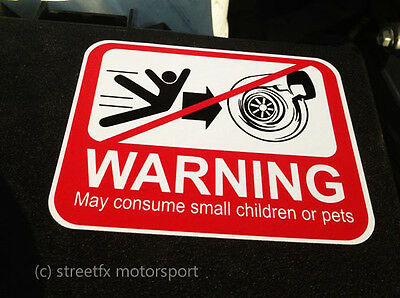 WARNING TURBO: May Consume small children or pets t04z gt28 gt28r t51r sticker
