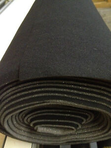 auto headliner upholstery fabric with foam backing 120 x 60 black ebay. Black Bedroom Furniture Sets. Home Design Ideas