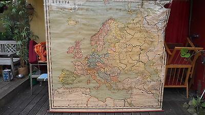Diplomatisch Wall Map Schullandkarte Schulwandkarte Europa Von 1893 Leinwand 200x200cm
