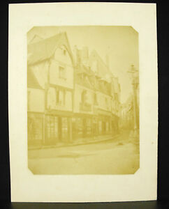 Librairie Boissin Rue à Bourges vers 1880 par Biron Photographie ancienne 29cm i0F8B8xm-09164815-723510394