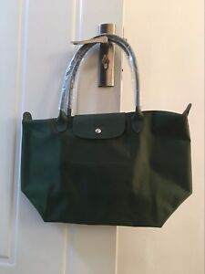 9dcd84cb2327 100% Auth Longchamp Le Pliage Neo Large Tote Bag Moss Green ...