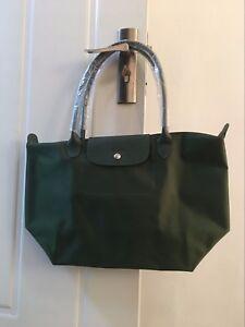 e8b9a3fe9f7 100% Auth Longchamp Le Pliage Neo Large Tote Bag Moss Green ...