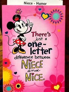 Image Is Loading HALLMARK NIECE Birthday Greeting Card Funny Humor 039