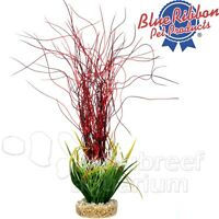 Water Hair Grass Red Weighted Free-standing Colorburst Plastic Plant 13