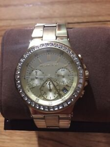 c66d418b02be Image is loading Used-Michael-Kors-Ladies-Mini-Dylan-Chronograph-Gold-