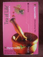TEA OF LIFE Ayurvedic STIMULATING 25 Sachets Tea bags Sri Lanka Black Natural