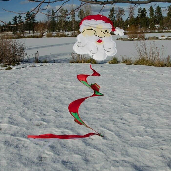 """42"""" SANTA CLAUS hanging TWISTER TAIL Garden wind décor ITB-4894, In the Breeze"""