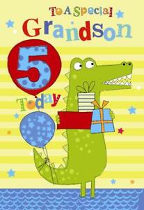 Image Is Loading A Special Grandson 5th Age 5 Today Crocodile