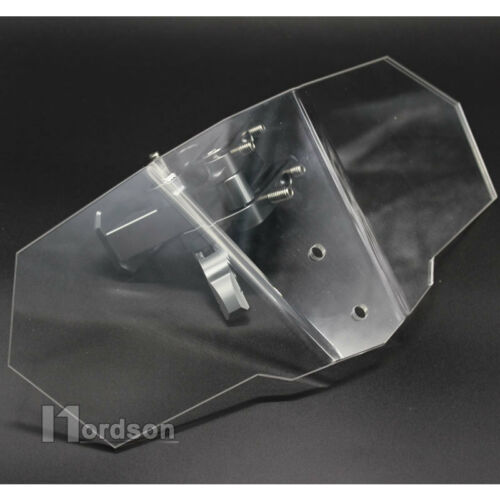 Universal Motorcycle Clip On Screen Windshield Extension Spoiler Wind Deflector