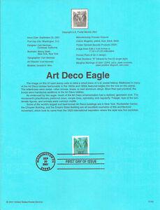 #0143 57c Art Deco Eagle Stamp #3471A Souvenir Page