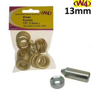 "W4 13 mm//1//2/"" Laiton Oeillets et fermeture Tool-Kit-Caravane//Camping"