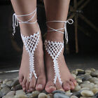 1 pair/2PC Dream network Wedding Lace shoes, Crochet Barefoot Sandals For Women