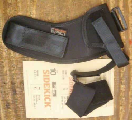 Uncle Mike s LH SIDEKICK Black Ankle Holster Small Semi-Autos 8810-2 size 10 NEW