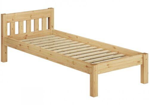 Einzelbett Jugendbett Bett massiv Kiefer 100x200 mit Lattenrollrost 60.38-10