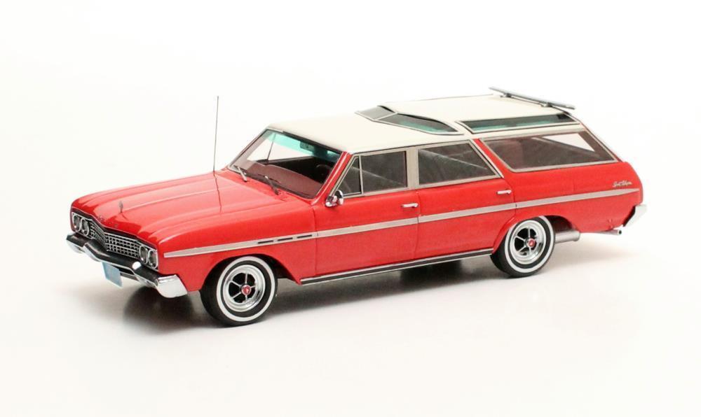 Buick Sport Wagon  Red White  1965 (Matrix 1 43   MX20206-112)