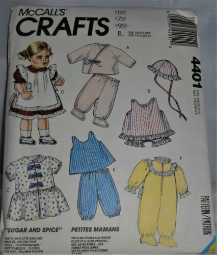 """Clothes /& Accessories for Baby Dolls Size 12/"""" to 22/"""" Sewing Patterns-Your Choice"""