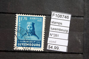 STAMPS-LUXEMBOURG-N-281-USED-F108746