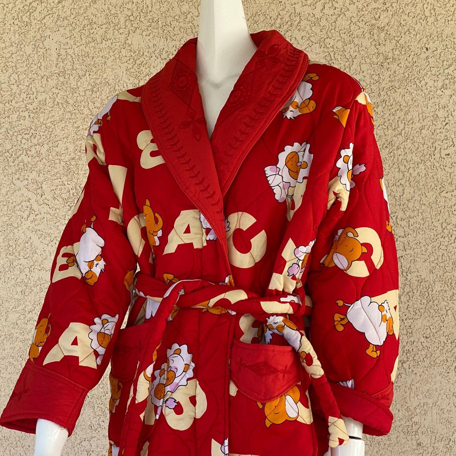Guizushideng Damen Große Abc Bauschig Rot Robe Bestickt Löwe Elefant Kamel