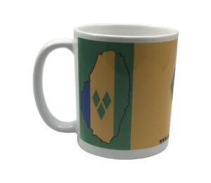 Bespoke-St-Vincent-amp-the-Grenadines-flag-Mug-with-Car-cd-Dangler