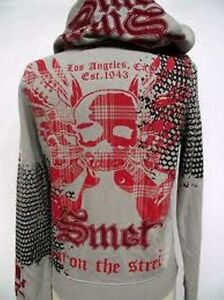 Détails sur SMET CHRISTIAN AUDIGIER Femme Platine Gladiateur Skull Tattoo Sweat à capuche 170 $ afficher le titre d'origine