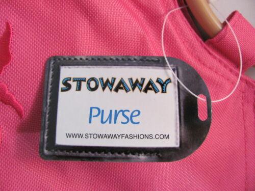NWT Stowaway Pretty Pink Zippered Beach Purse Bag Tote Tropical Shell Fish SH252