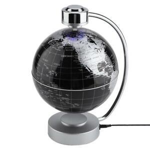 Floating Globe Magnetic Levitation  World Map Levitating w/LED Light