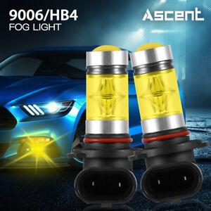 2x-9006-HB4-LED-Fog-Light-Bulb-3000K-For-Mazda-3-2009-2007-MX5-Miata-2005-2004