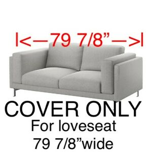 Astounding Details About Ikea Nockeby Cover Slipcover For Loveseat 2 Seat Couch Tallmyra White Black Machost Co Dining Chair Design Ideas Machostcouk