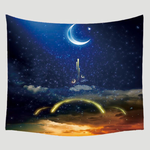 Indian Moon Men Tapestry Wall Hanging Home Décor Hippie Blanket Night Starry DIY
