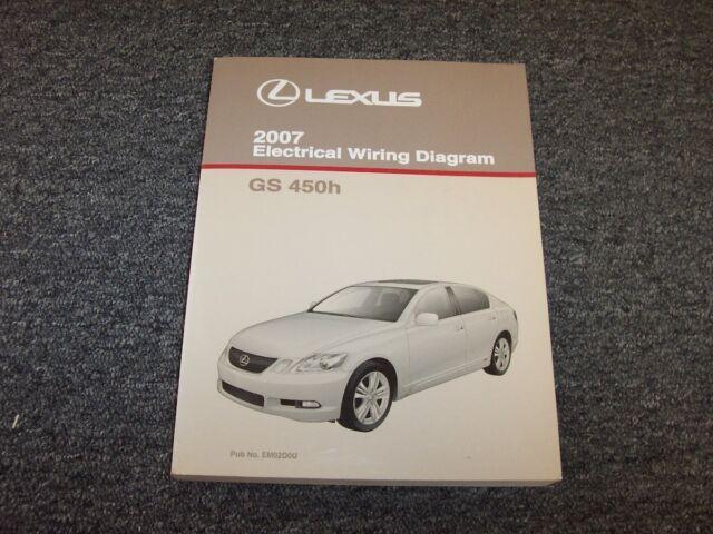 2007 Lexus Gs450h Sedan Factory Original Electrical Wiring Diagram Manual 3 5l