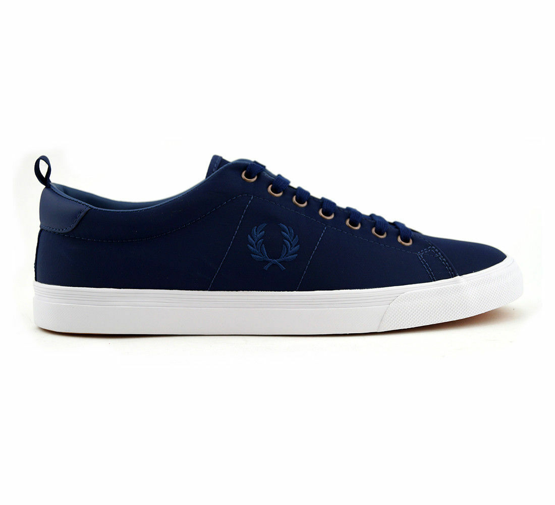 F rouge Perry hommes Underspin Nylon Trainers Chaussures - B1150-143 - French Navy