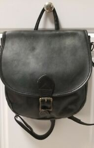 HOBO-INTERNATIONAL-BLACK-LEATHER-VINTAGE-BACKPACK-PURSE-SHOULDER-BAG
