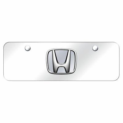 Auto Gold HONCCM Chrome On Chrome License Logo Mini Plate Honda