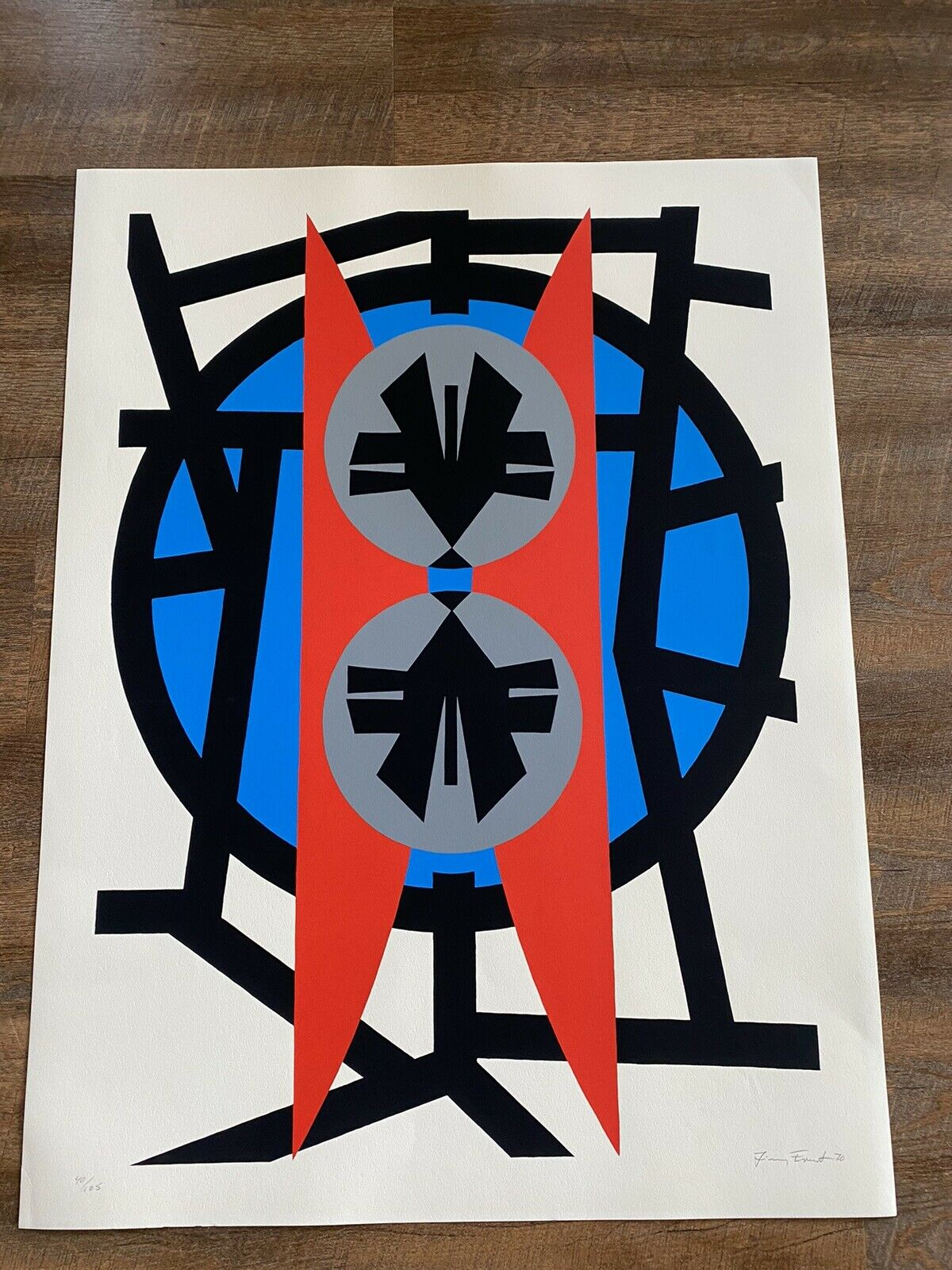"Jimmy Ernst  Plate V 1970 Signed Modern Art Limited Edition Silkscreen 37"" X 28"" on eBay thumbnail"