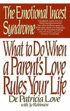 EMOTIONAL INCEST SYNDROME - JO ROBINSON PATRICIA LOVE (PAPERBACK) NEW
