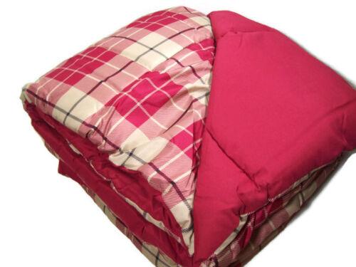 Home Design Multi Colors Red Plaid Reversible Down Alternative King Comforter