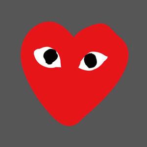 ae563f861efd 5Pcs Lot CDG Play Love Heart Logo Vinyl Sticker Skateboard Luggage ...