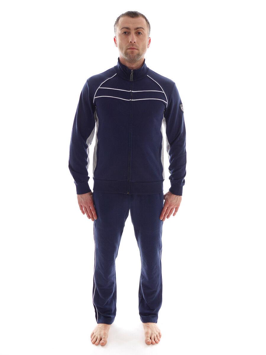 CMP Tuta per tuttienauominito Tuta per Jogging blu Homewear Sudore Colletto Alto