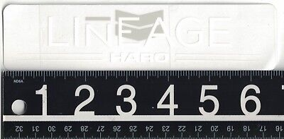 HARO LINEAGE STICKER Haro Bikes 6.6 in x 1.6 in White Cycling Decal